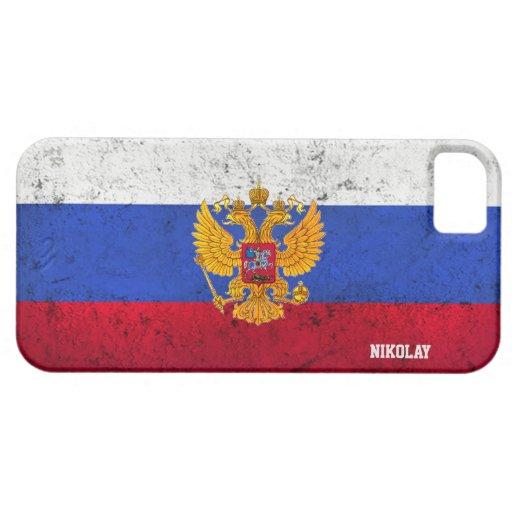 Coque iphone russe de drapeau affligé par coutume coque iPhone 5 Case-Mate
