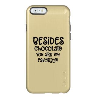 "Coque iphone ""sans compter que chocolat"""