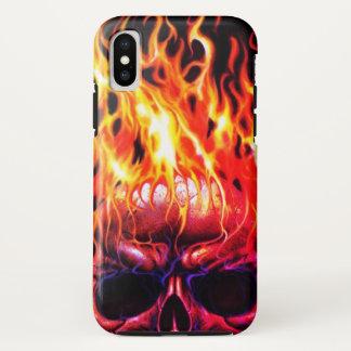 coque iphone squelettique principal du feu