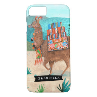 Coque iphone tropical du cactus | de lama