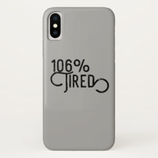 Coque iPhone X 106% fatigué