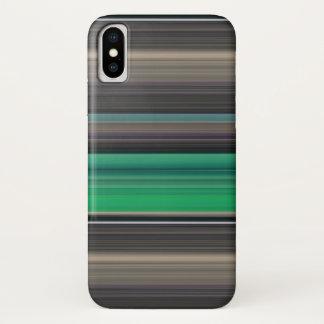 Coque iPhone X #1 abstrait : Vert et gris
