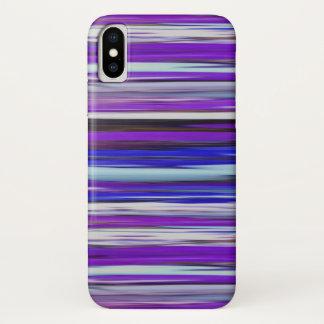 Coque iPhone X #2 abstrait : Tache floue ultra-violette