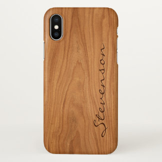 Coque iPhone X A personnalisé votre regard du bois de grain de