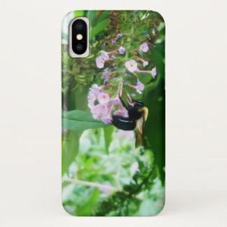 Coque iPhone X Abeille de charpentier orientale sur la fleur de