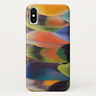 Coque iPhone X Abrégé sur plumes de queue de perruche