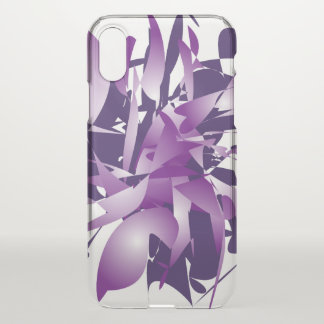 Coque iPhone X Abstraction ultra-violette
