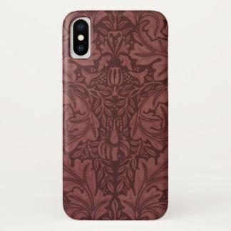 Coque iPhone X Acanthe par William Morris, textile floral vintage