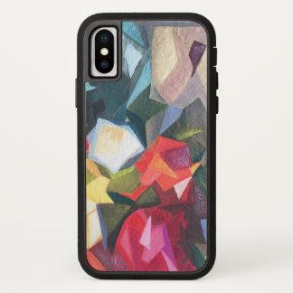 Coque iPhone X Affaire abstraite florale lumineuse 2 de téléphone