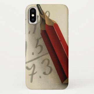 Coque iPhone X Affaires vintages, équation de maths avec le