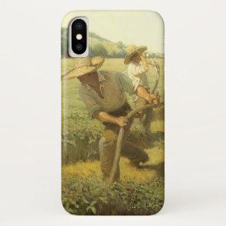 Coque iPhone X Agriculteurs vintages, de nouveau à la ferme par