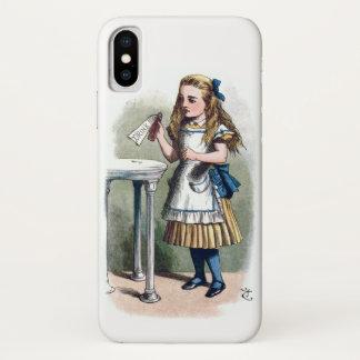 Coque iPhone X Alice au pays des merveilles me boivent original