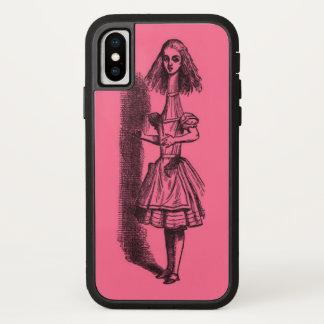 Coque iPhone X Alice vintage au pays des merveilles