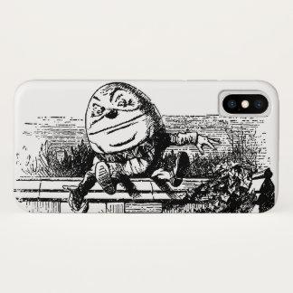Coque iPhone X Alice vintage au pays des merveilles, Humpty