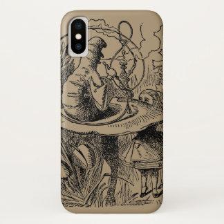 Coque iPhone X Alice vintage dans le narguilé Caterpillar du pays