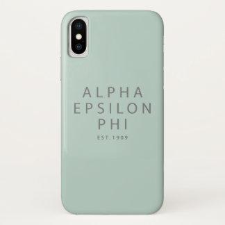 Coque iPhone X Alpha est epsilon du phi  . 1909