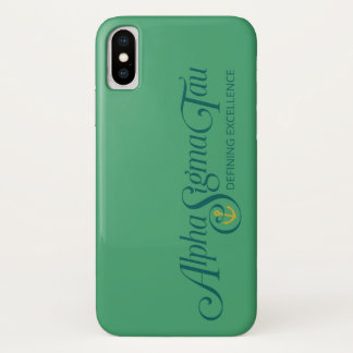 Coque iPhone X Alpha logo 2 de Tau de sigma