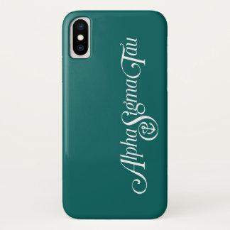 Coque iPhone X Alpha logo de Tau de sigma aucun Tagline 2