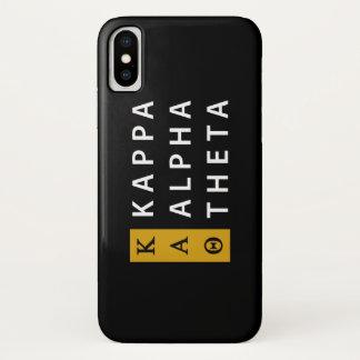 Coque iPhone X Alpha logo empilé par   de thêta de Kappa