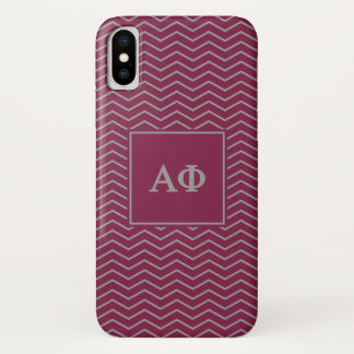 Coque iPhone X Alpha motif du phi | Chevron