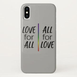 Coque iPhone X Amour pour tous, tous pour l'amour