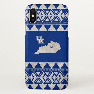Coque iPhone X Amour tribal d'état du Kentucky  