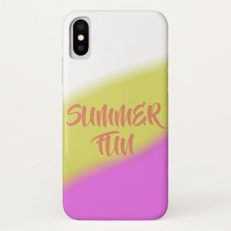 Coque iPhone X Amusement d'été
