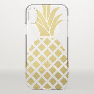 Coque iPhone X Ananas d'or de Faux