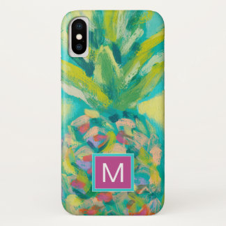 Coque iPhone X Ananas tropical coloré