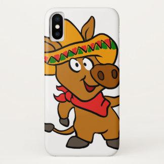 Coque iPhone X Âne mexicain