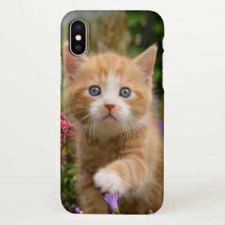 Coque iPhone X Animal familier mignon de chaton de chat de bébé