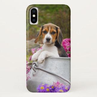 Coque iPhone X Animal familier tricolore mignon de chiot de chien