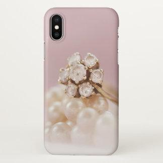 Coque iPhone X Anneau de couverture d'iphone d'amour