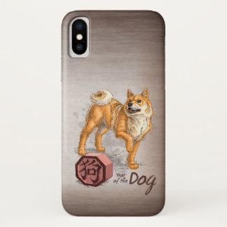 Coque iPhone X Année de l'art chinois de zodiaque de chien