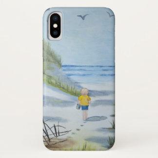Coque iPhone X Aquarelle de plage