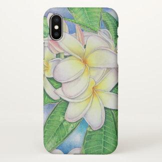 Coque iPhone X Aquarelle de Plumeria