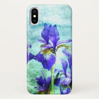 Coque iPhone X Aquarelle pourpre d'iris