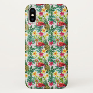 Coque iPhone X Aquarelle tropicale