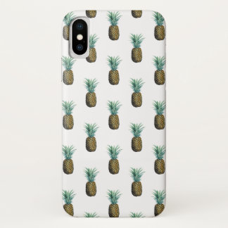 Coque iPhone X Aquarelle tropicale d'ananas