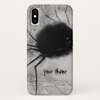 Coque iPhone X Araignée de sourire par Odilon Redon, Halloween