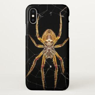 Coque iPhone X Araignée sur l'art de photo de couverture d'iphone