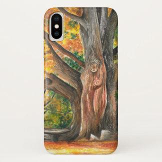 Coque iPhone X Arbre d'automne