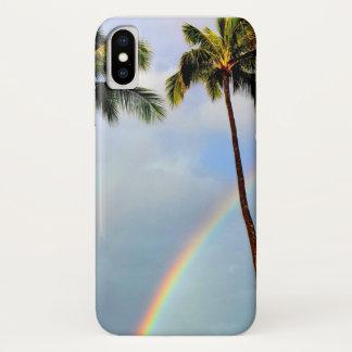 Coque iPhone X Arc-en-ciel par le cas d'Iphone X de palmiers