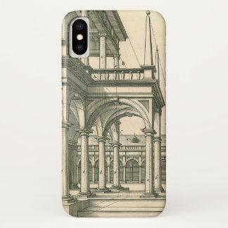 Coque iPhone X Architecture vintage, cour romaine avec des