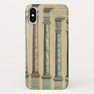 Coque iPhone X Architecture vintage, les 5 ordres architecturaux