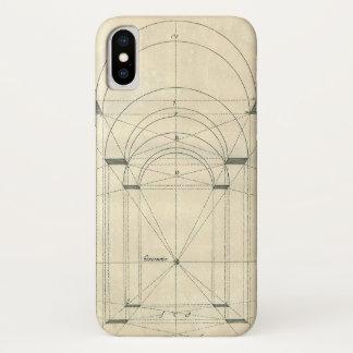 Coque iPhone X Architecture vintage, perspective de voûte de la