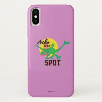Coque iPhone X Arlo et coucher du soleil de tache