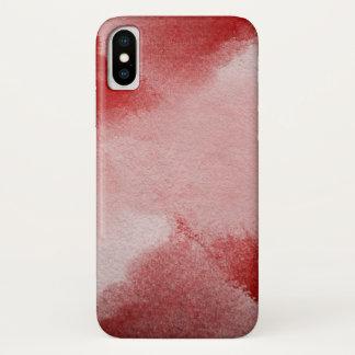 Coque iPhone X arrière - plan abstrait de peinture