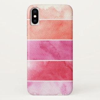 Coque iPhone X arrière - plan de bannières d'aquarelle pour votre