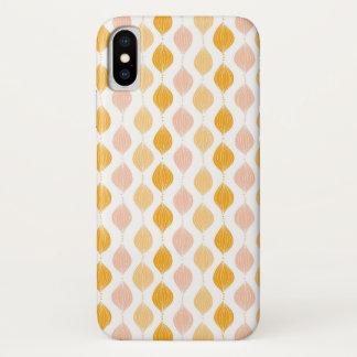 Coque iPhone X Arrière - plan d'or abstrait de motif d'ogee